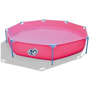 BASIC Piscine octogonale en PVC pour enfant 300x55cm - Fuchsia