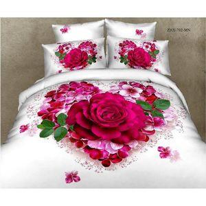 parure de lit mariage achat vente parure de lit mariage pas cher soldes cdiscount. Black Bedroom Furniture Sets. Home Design Ideas