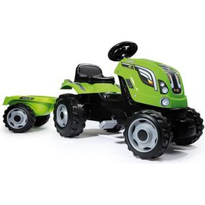 TRACTEUR - CHANTIER SMOBY Tracteur Farmer XL Vert + Remorque