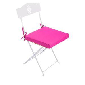 Housse coussin fushia achat vente housse coussin fushia pas cher cdiscount - Galette de chaise exterieur ...