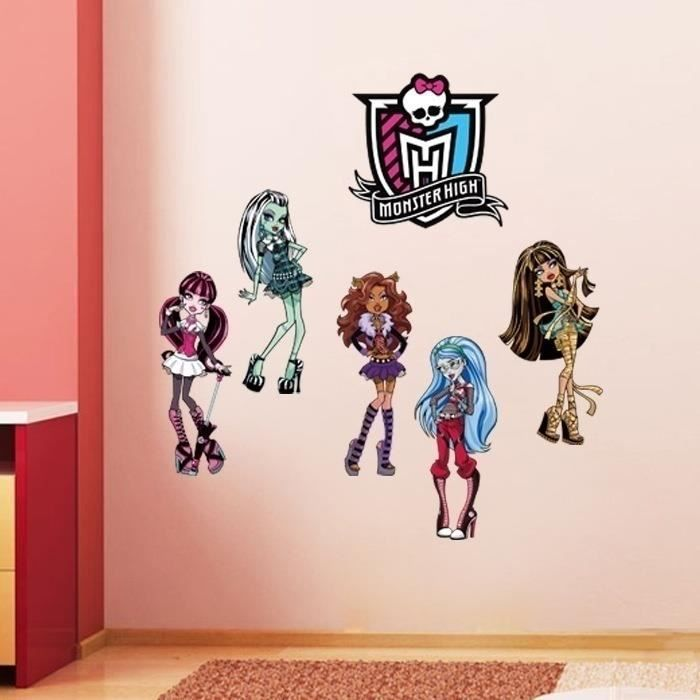 Stickers muraux waterproof autocollants monster high - Deco chambre monster high ...