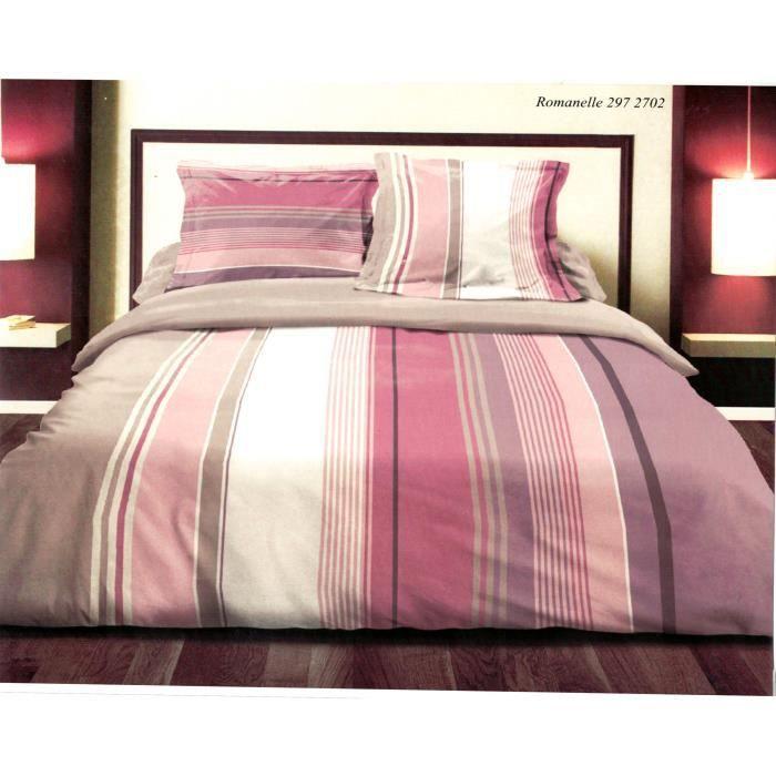 parure de drap 4 pi ces parure de lit 100 coton achat vente parure de drap cdiscount. Black Bedroom Furniture Sets. Home Design Ideas