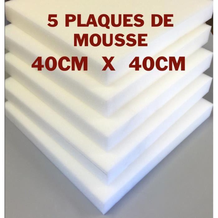 5 plaques de mousse polyur thane 40x40x3cm achat vente. Black Bedroom Furniture Sets. Home Design Ideas