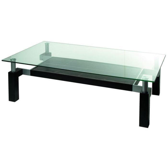Table basse double plateaux en verre 120 70 achat vente table basse table basse double - Table basse en verre cdiscount ...