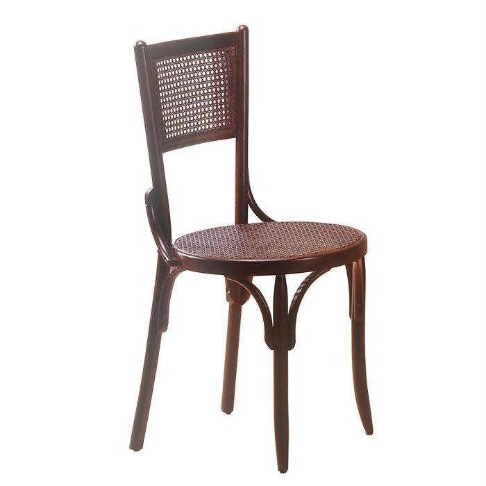 Chaise bistrot tulio en bois h tre noyer achat vente for Soldes chaises bois