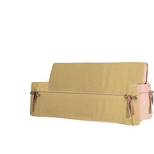 eysa f6250111 housse de canap 2 places plus coton polyester marron 130 x 160 cm achat vente. Black Bedroom Furniture Sets. Home Design Ideas