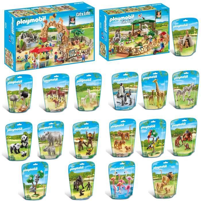 playmobil pack zoo complet achat vente univers. Black Bedroom Furniture Sets. Home Design Ideas