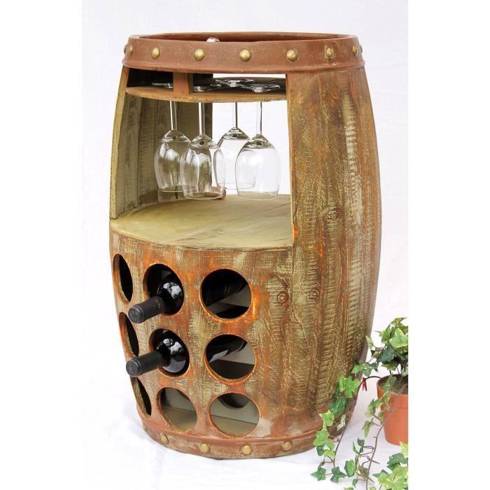 dandibo casier vin tonneau vin 1681 bar porte bouteilles 69cm etag re pour 18 bts tonneau. Black Bedroom Furniture Sets. Home Design Ideas