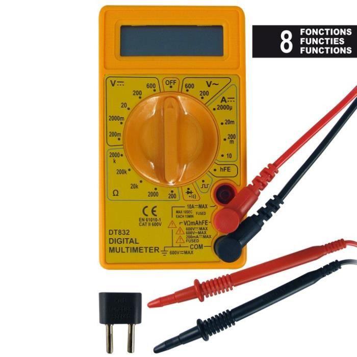 Contr leur multim tre testeur tension eloto achat for Controleur de tension electrique