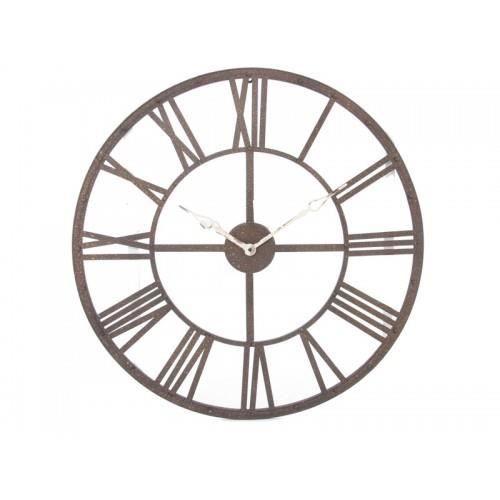 pendule metal chiffres romains achat vente horloge m tal cdiscount. Black Bedroom Furniture Sets. Home Design Ideas