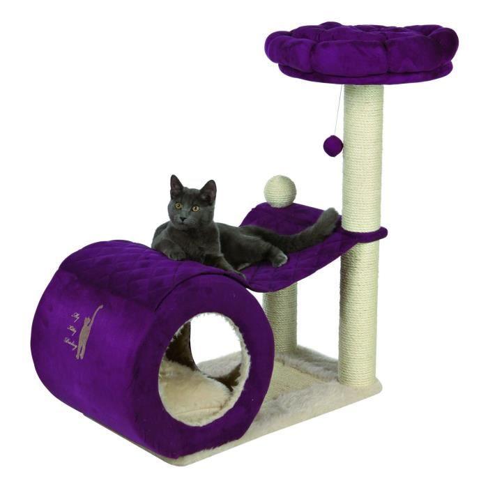 trixie my kitty darling arbre chat hauteur 90 cm cr me et violet peluche achat vente arbre. Black Bedroom Furniture Sets. Home Design Ideas