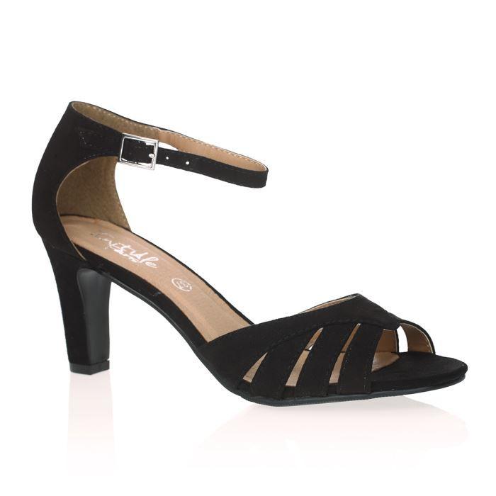 initiale paris sandales caramel femme femme noir achat vente initiale paris sandales femme. Black Bedroom Furniture Sets. Home Design Ideas