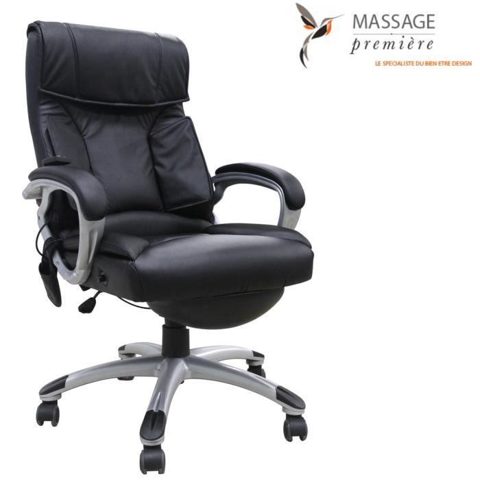 Fauteuil de bureau massant noir achat vente chaise de bureau noir cdi - Fauteuil bureau massant ...