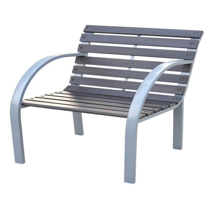 chaise de jardin grenade en bois et m tal dim achat vente fauteuil jardin chaise de. Black Bedroom Furniture Sets. Home Design Ideas