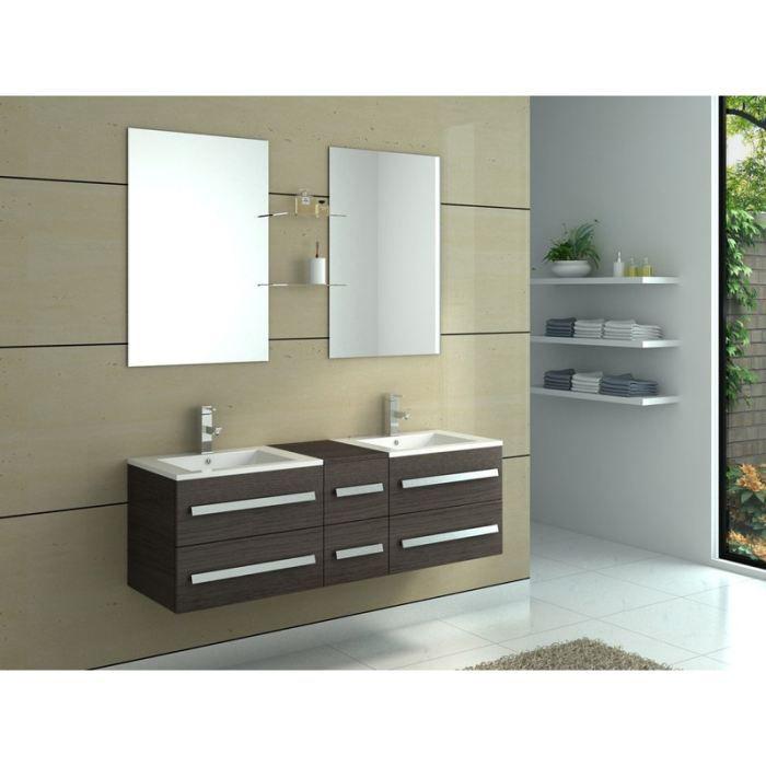 Ensemble meuble salle de bains double vasque primo achat - Meubles salle de bain cdiscount ...