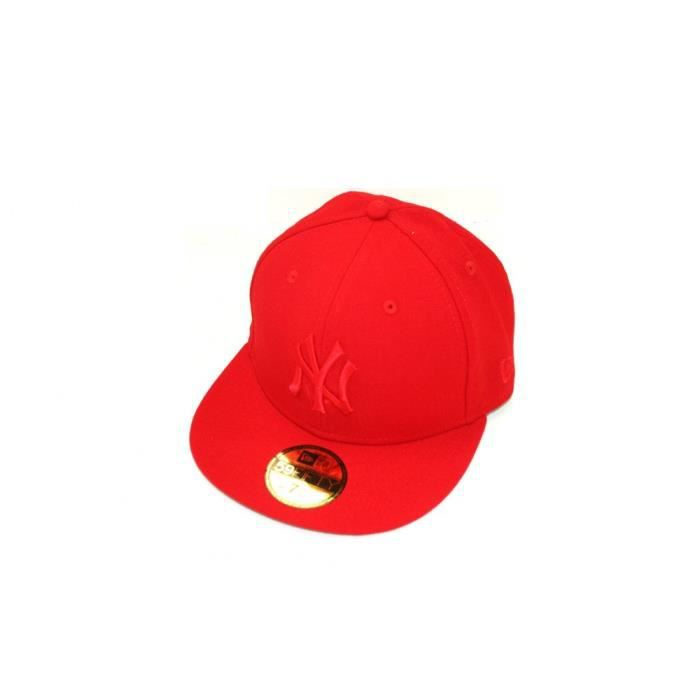 casquette new era 59fifty new york yankees rouge achat vente casquette cdiscount. Black Bedroom Furniture Sets. Home Design Ideas