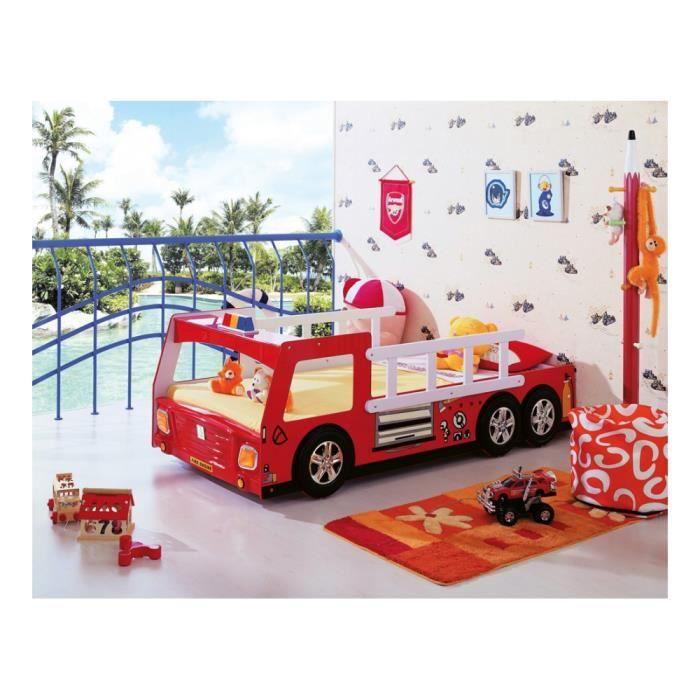 lit enfant pompier 90x190cm achat vente structure de lit lit enfant pompier 90x190cm. Black Bedroom Furniture Sets. Home Design Ideas
