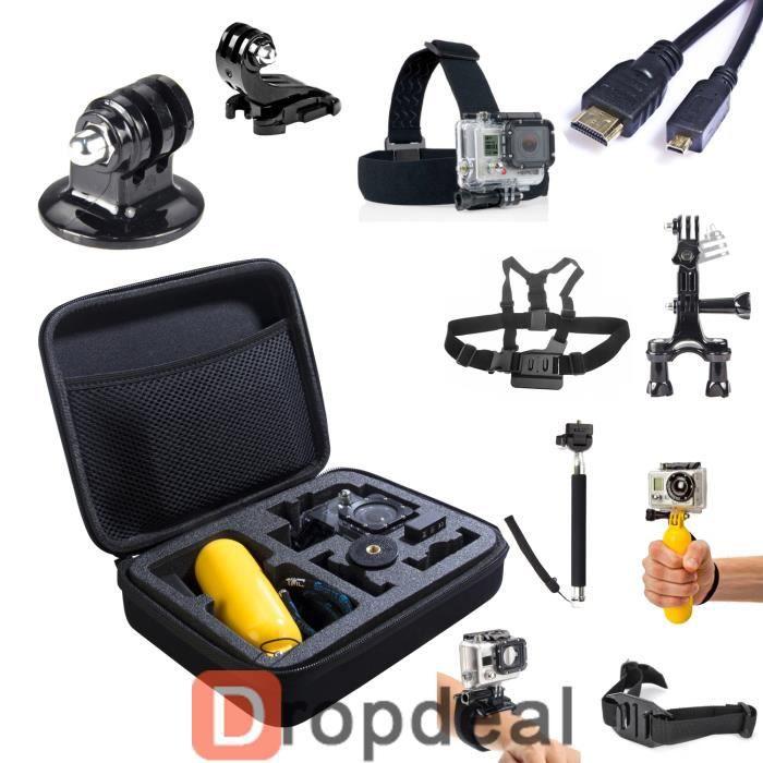 kit 11 accessoires gopro hero 2 3 4 perche harnais achat vente pack accessoires photo kit 11. Black Bedroom Furniture Sets. Home Design Ideas