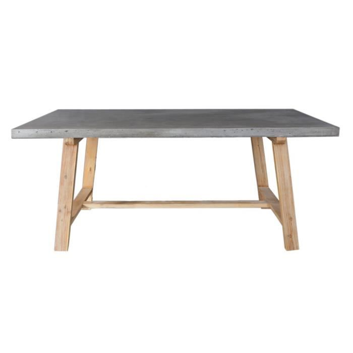 Table manger minesota b ton acacia achat vente table - Table a manger beton ...