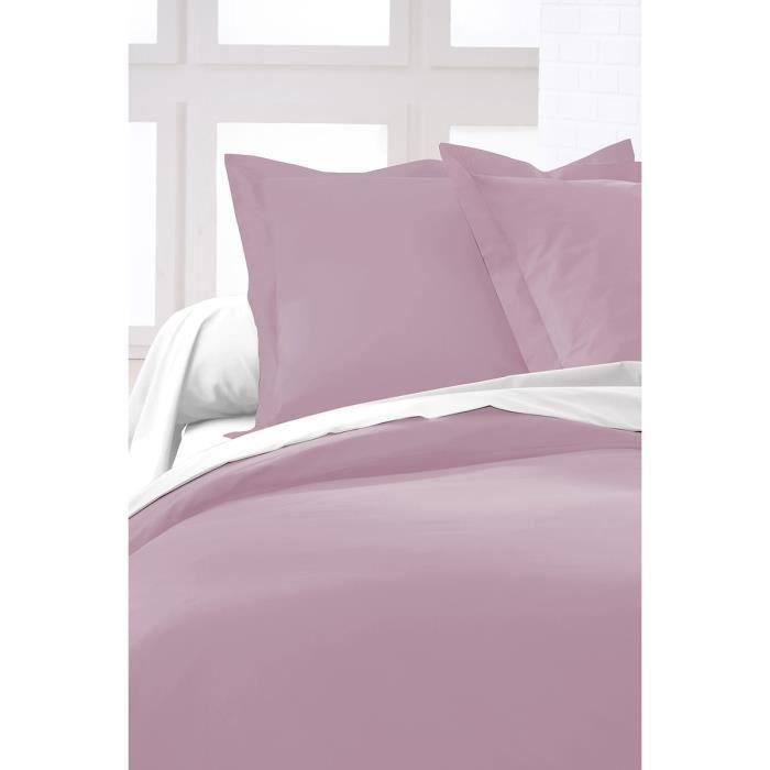 housse de couette rose pastel achat vente housse de couette cdiscount. Black Bedroom Furniture Sets. Home Design Ideas