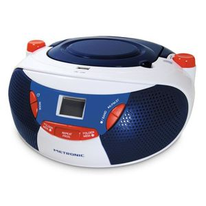MET 477113 Radio CD-MP3 Bleu Blanc Rouge