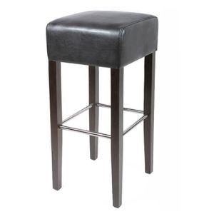 tabouret bar bois et cuir achat vente tabouret bar bois et cuir pas cher soldes cdiscount. Black Bedroom Furniture Sets. Home Design Ideas