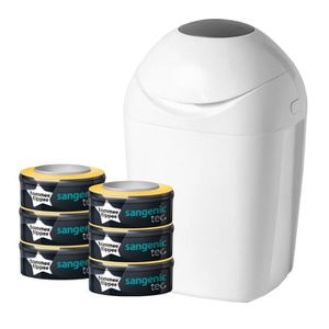 POUBELLE À COUCHES TOMMEE TIPPEE 1 Bac Sangenic TEC 28 Couches Blanc