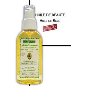 LOTION CAPILLAIRE Huile de beauté à l'huile de ricin 100% pure et vé