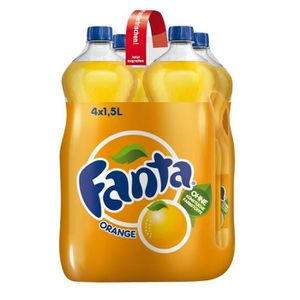 Soda - Thé glacé Fanta Orange (4 x 1,5 litre)