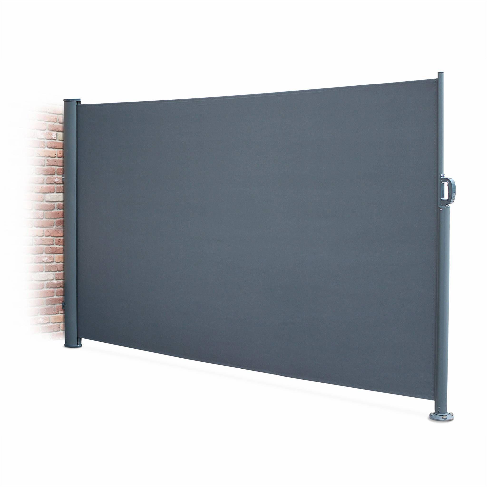 paravent r tractable putti gris 300x160cm brise vue. Black Bedroom Furniture Sets. Home Design Ideas
