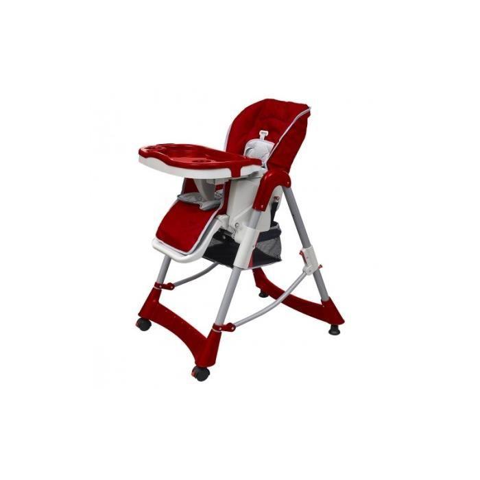chaise haute pour b b couleur rouge achat vente. Black Bedroom Furniture Sets. Home Design Ideas