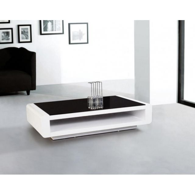 Table basse miami blanc verre achat vente table - Table basse c discount ...