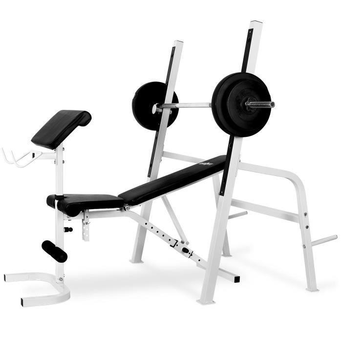 klarfit fit ks03 appareil de musculation station de charge guid e curl halt res achat vente. Black Bedroom Furniture Sets. Home Design Ideas