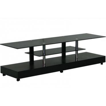 Ce meuble tv bois c rus noir et verre noir trouvera - Meuble tv bois et verre ...