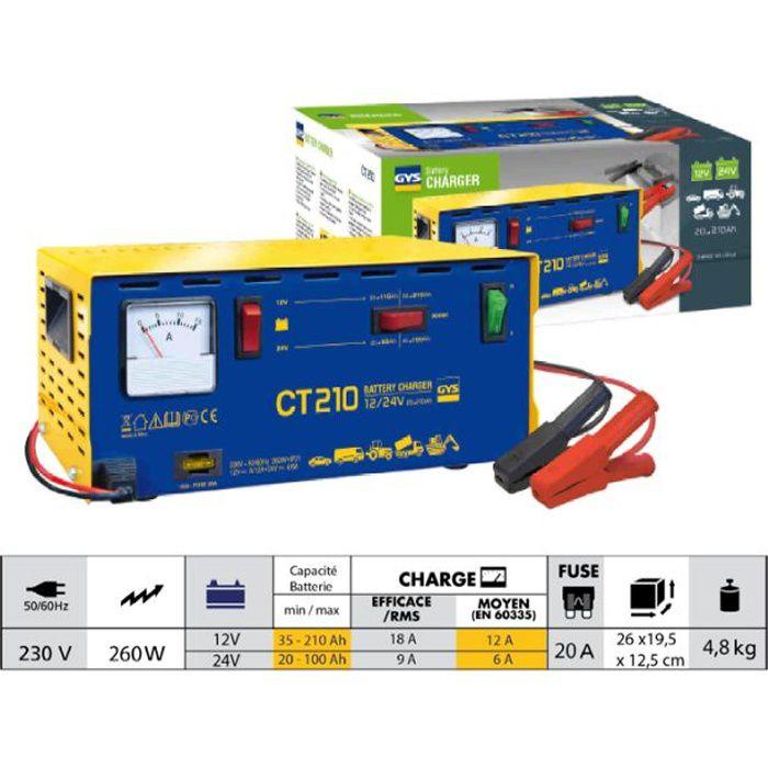 chargeur traditionnel ct 210 gys 024113 achat vente chargeur de batterie gys 024113. Black Bedroom Furniture Sets. Home Design Ideas