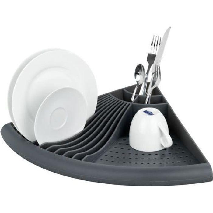Gouttoir vaisselle d 39 angle gris achat vente egouttoir couverts - Egouttoir vaisselle d angle ...