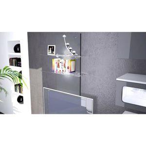 etagere murale 2 tablettes achat vente etagere murale. Black Bedroom Furniture Sets. Home Design Ideas