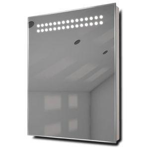 Miroir de salle de bain avec eclairage et prise achat - Miroir salle de bain avec prise et eclairage ...