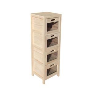 Colonne avec tiroir rangement cuisine achat vente for Petit meuble de rangement avec tiroirs