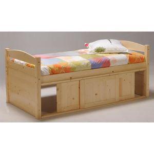 lit 90x190 rangement achat vente lit 90x190 rangement pas cher cdiscount. Black Bedroom Furniture Sets. Home Design Ideas