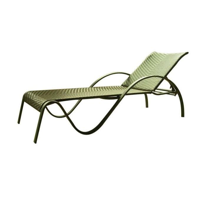 Lit bain de soleil r sine tress e achat vente chaise for Chaises bain de soleil