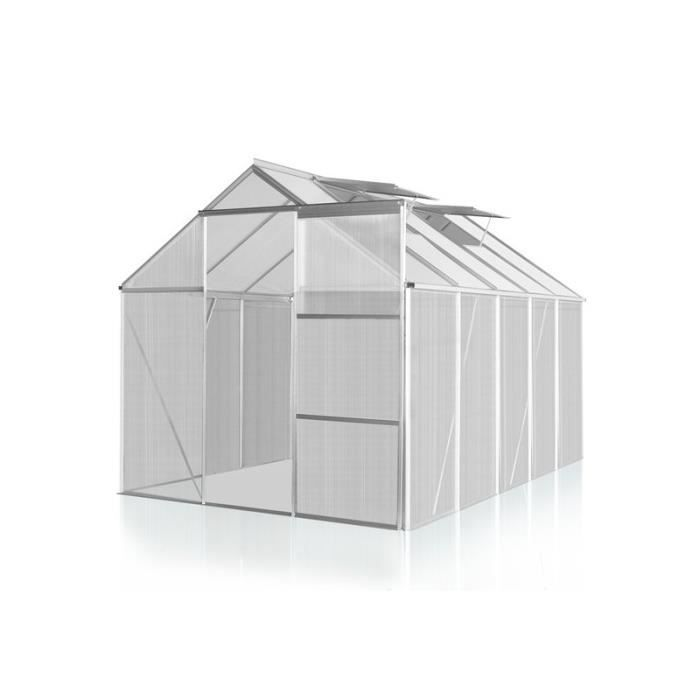Serre polycarbonate 250 x 270 cm 6 7 m2 1601003 achat - Polycarbonate prix m2 ...
