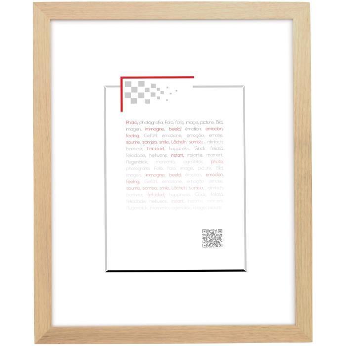 brio cadre photo en bois oakland naturel 40x50 cm achat vente cadre photo bois cdiscount. Black Bedroom Furniture Sets. Home Design Ideas