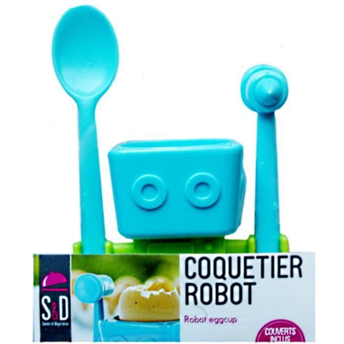 kit coquetier robot pour enfant 3 pieces ustensile cuisine achat vente coquetier cdiscount. Black Bedroom Furniture Sets. Home Design Ideas