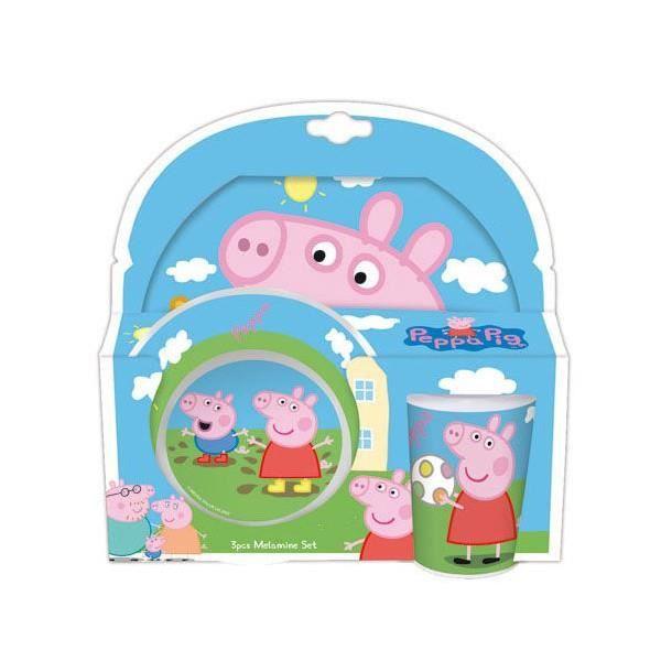 peppa pig set cadeau petit d jeuner enfant m lam achat. Black Bedroom Furniture Sets. Home Design Ideas