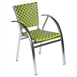 Lot de 2 fauteuils caraibes vert anis for Chaise jardin vert anis