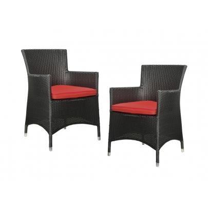 Lot de 2 fauteuils d 39 exterieur alanda r sine achat vente chaise - Fauteuil exterieur resine ...