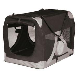 TRIXIE Transport souple XS - S : 35x35x50cm - Noir et gris - Pour chien