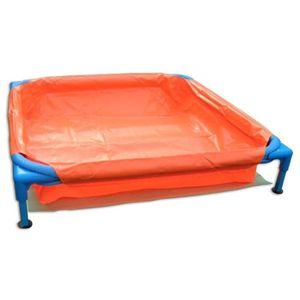 BABY Piscine carré en PVC pour enfant 85x85x15cm - Orange