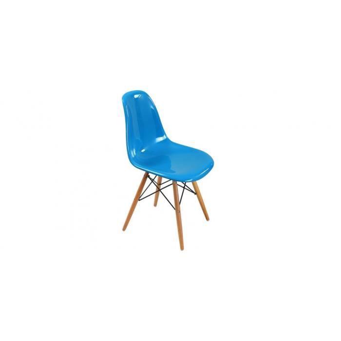 CHAISE  Chaise DSW inspirée Charles Eames - Fibre de verre